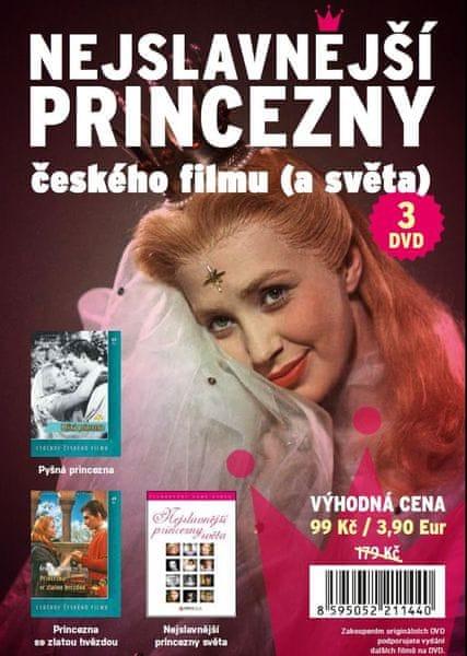 Nejslavnější princezny českého filmu (a světa) 3DVD - DVD
