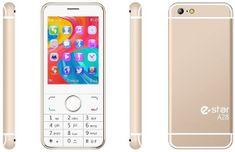 eStar A28 Mobiltelefon, Dual SIM, Arany
