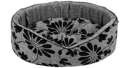 X-Pets pasja postelja Noir Grey, ovalna, S