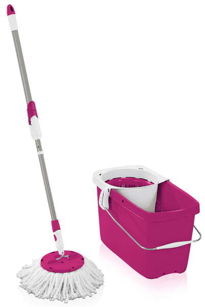 Leifheit Set Clean Twist Disc Mop růžová