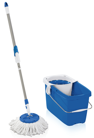 Leifheit set za čiščenje tal Twist Disc Mop, moder