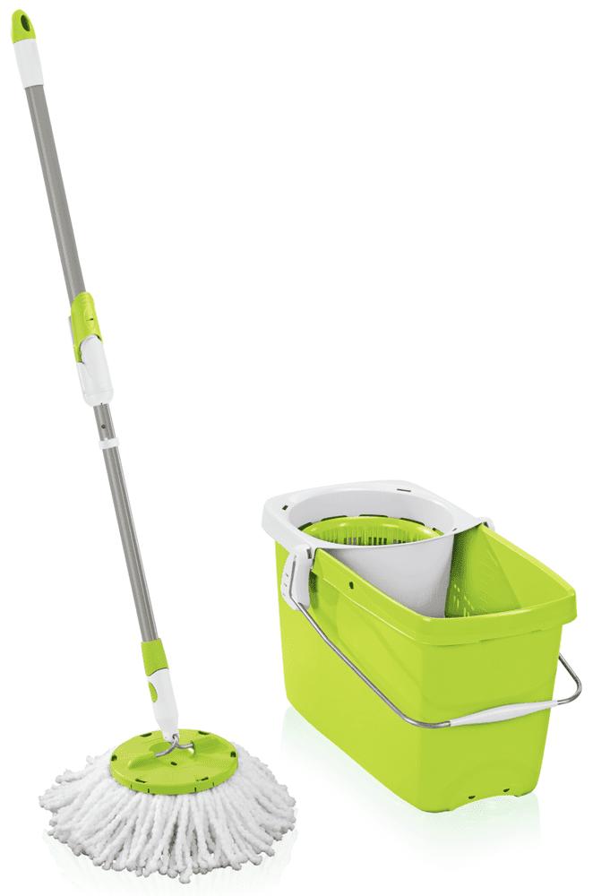 Leifheit Set Clean Twist Disc Mop zelená