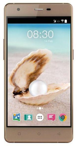 ACCENT Pearl, Dual SIM, zlatý