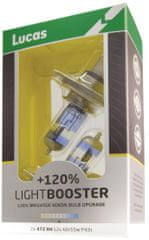 Lucas LightBooster H1 Autó izzó, 12 V, 55 W + 120%, 2 db