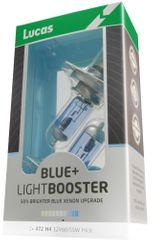 Lucas LightBooster H4 Autó izzó, Kék, 12 V, 60/55 W + 50%, 2 db