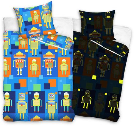Carbotex otroška posteljnina Roboti