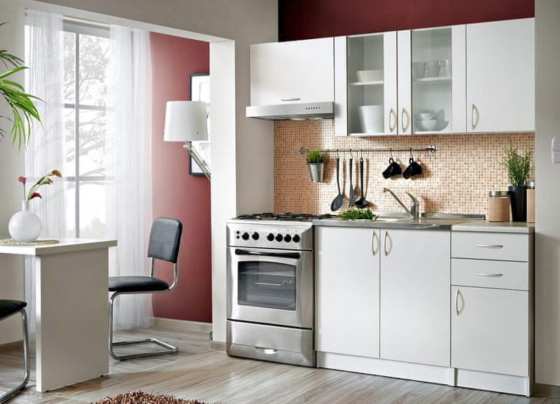 Kuchyně JOLANA II 120/180 cm, bílá