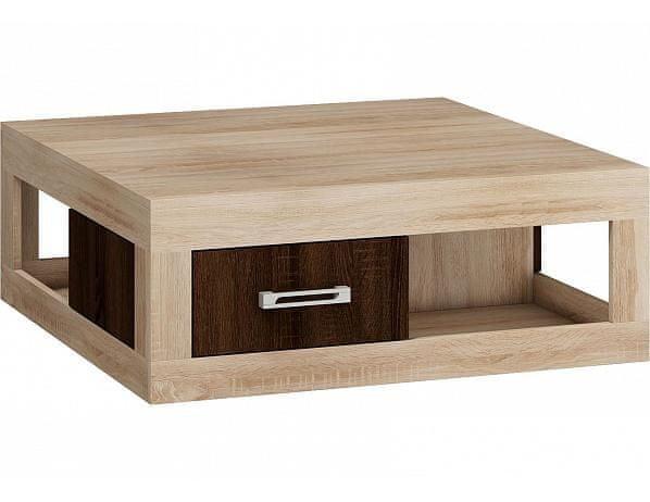 Konferenční stolek Verin 02, dub sonoma/dub sonoma tmavý