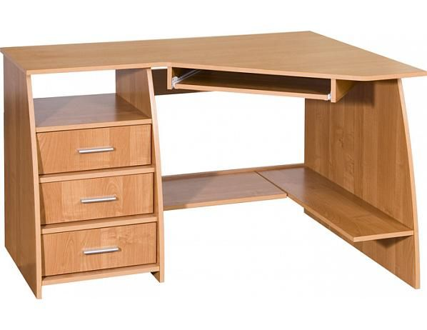 Počítačový stolek Sevilla 3, buk, levý