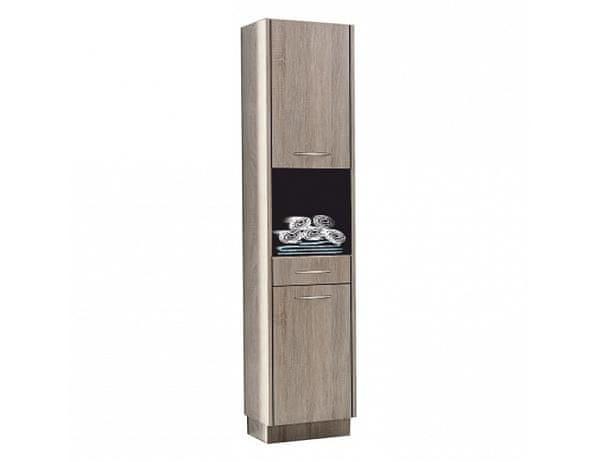 Vysoká skříňka, dub sonoma trufle, OLIVIA TR11