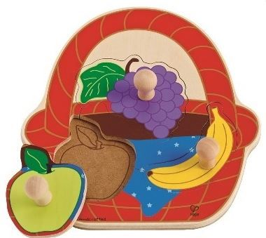 Hape sestavljanka Košara s sadjem (veliki ročaji)