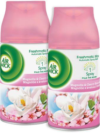 Air wick Freshmatic Max polnilo za osvežilec zraka, Mangnolia & Cherry Blossom, 2x 250 ml