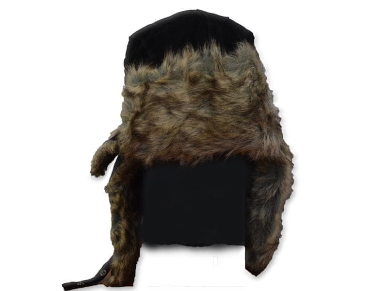 Eiger Ušanka Suede Fur Hat Black XL