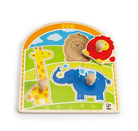 Hape lesena igrača Puzzle Zoo (veliki ročaji)