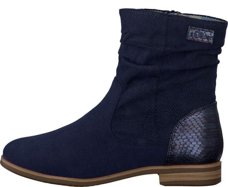 s.Oliver dámská kotníčková obuv 36 modrá