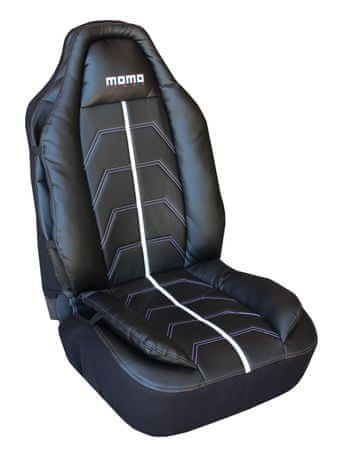 Momo International pokrivalo sedeža Monza, črno-siv SCCUMBG