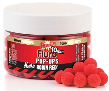 Dynamite Baits boilies fluro pop-ups 10 mm Robin Red