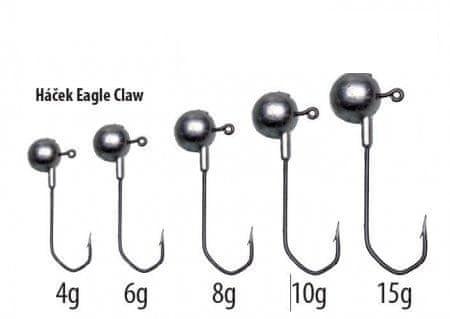 Falcon jig hlavy eagle claw hook 4 g, 2
