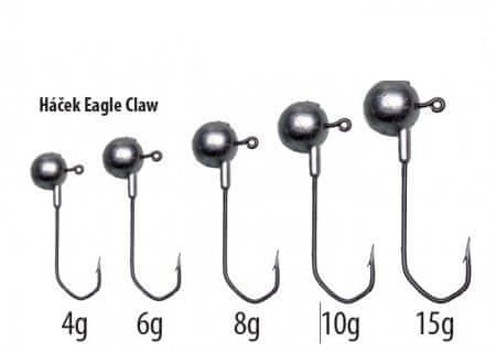 Falcon jig hlavy eagle claw hook 8 g, 2