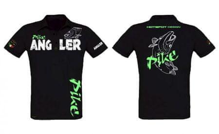 Hotspot Design Tričko s golierikom Pike Angler L