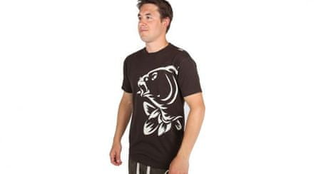 Nash Tričko T-shirt Brown logo carp S