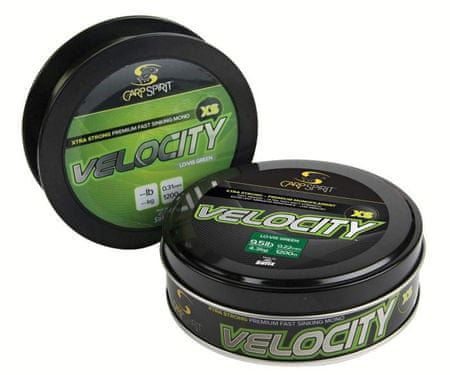 Carp Spirit Velocity XS -Green 1200m 0,25 mm, 5 kg