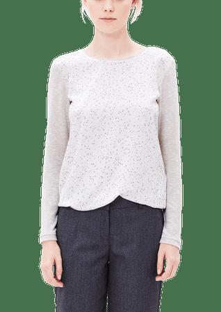 s.Oliver T-shirt damski 36 kremowy