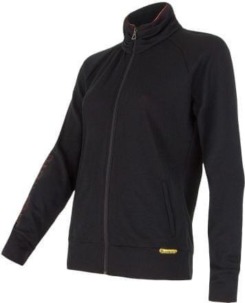 b21a340482 Sensor Merino Gyapjú női kapucnis pulóver, S, Fekete   MALL.HU