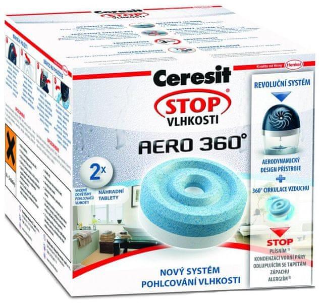 Ceresit Stop vlhkosti Aero 360° - tablety, 2 ks