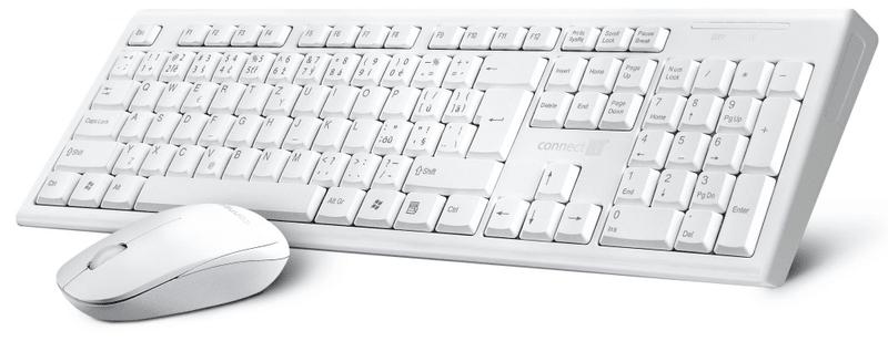 Connect IT CI-1118 bezdrátový set se slovenským a českým potiskem, bílý (CI-1118)