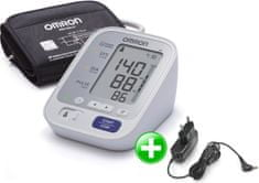 Omron M3 s farebným indikátorom hypertenzie + adaptér