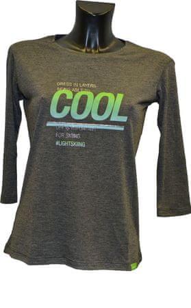 Elan majica Delight LS PSL10116, XL, siva