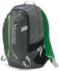 DICOTA Backpack Active 14-15.6 grey / lime (D31221)