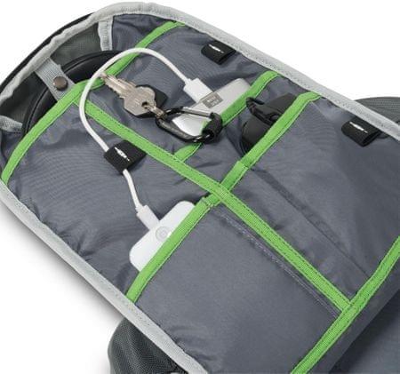 DICOTA Backpack Active 14-15.6 szürke   lime (D31221)  bb582e47a8