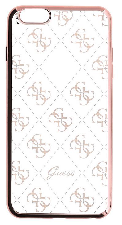 Guess GUHCP6TR4GRG 4G TPU pouzdro Rose Gold pro iPhone 6/6S