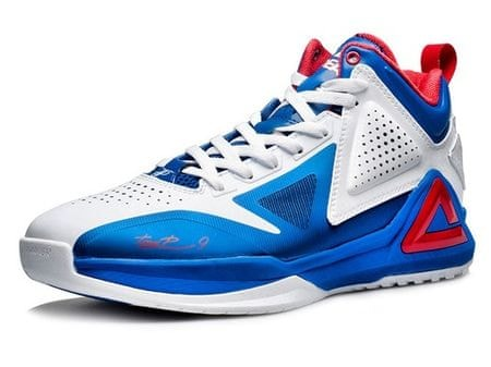 Peak copati za košarko TP1 E34323A, belo-modri, 40