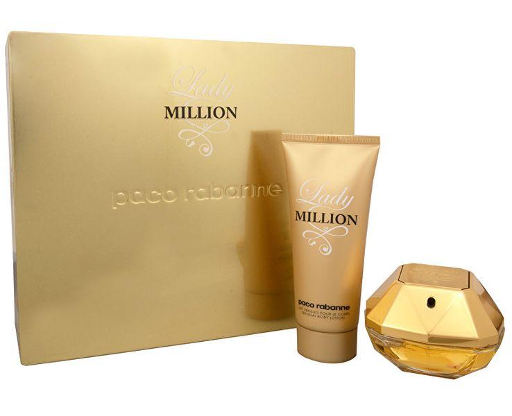Paco Rabanne Lady Million - EDP 50 ml + tělové mléko 100 ml