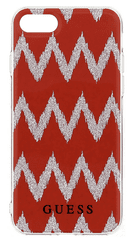 Guess GUHCP7CGRE Ethnic Chic Chevron 3D TPU pouzdro Red pro iPhone 7
