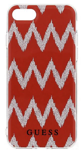 Guess GUHCP7CGRE Ethnic Chic Chevron 3D TPU pouzdro Red pro iPhone 7