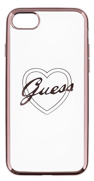 Guess GUHCP7TRHRG Heart TPU pouzdro Rose Gold pro iPhone 7