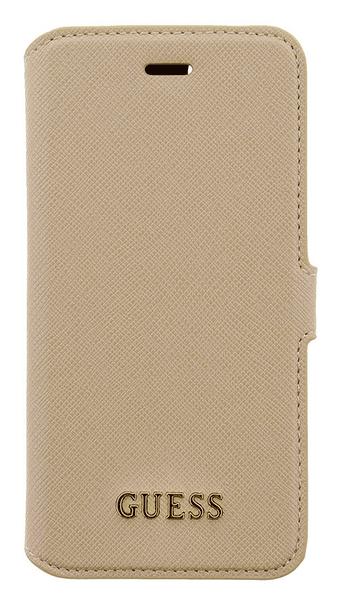 Guess GUFLBKP7TBE Saffiano Book pouzdro Beige pro iPhone 7