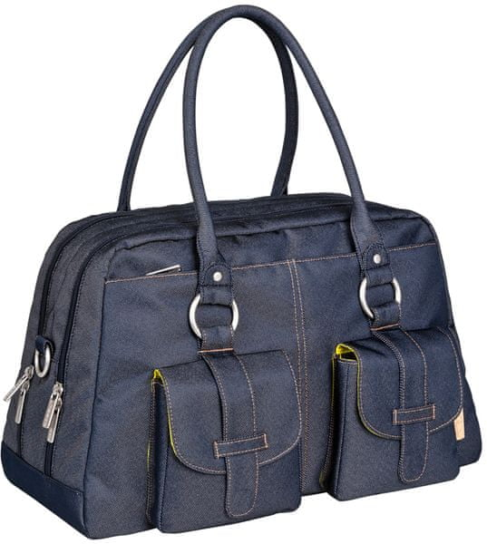 Lässig Green Label Metro Bag, Denim blue