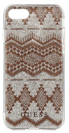 Guess GUHCP7LTGTA Ethnic Chic Tribal 3D TPU pouzdro Taupe pro iPhone 7 Plus