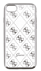 Guess GUHCPSETR4GSI 4G TPU pouzdro Silver pro iPhone 5/5S/SE