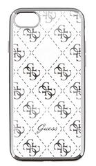 Guess GUHCPSETR4GSI 4G TPU pouzdro Silver pro iPhone 5/5S/SE