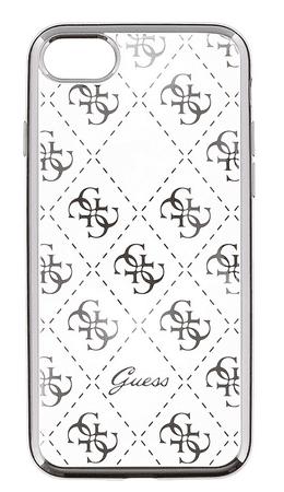 Guess GUHCP6LTR4GSI 4G TPU pouzdro Silver pro iPhone 6/6S Plus