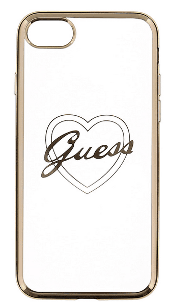 Guess GUHCP7TRHG Heart TPU pouzdro Gold pro iPhone 7