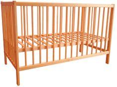 Vetro-Plus Postýlka dětská dřevěná 120 x 60 x 80 cm