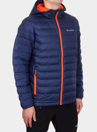Columbia Powder Lite Hooded Jckt Collegia Navy S
