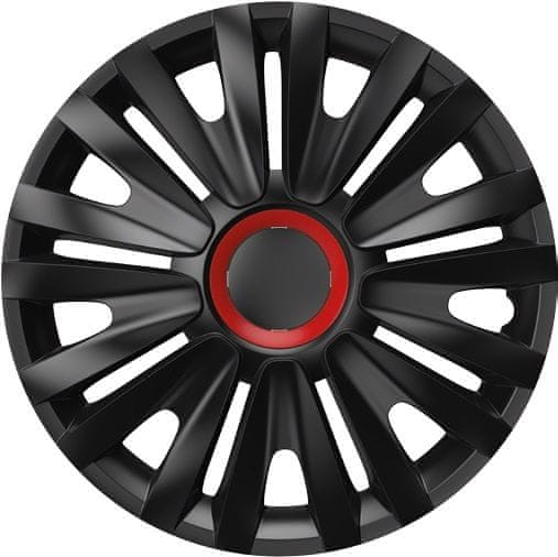 Versaco Poklice ROYAL Red Ring Black sada 4ks 16